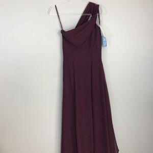 Jordan Brides Gown Size 2 Chianti Maroon